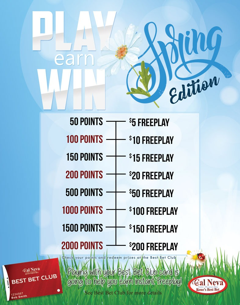 Spring Edition of Play Earn Win